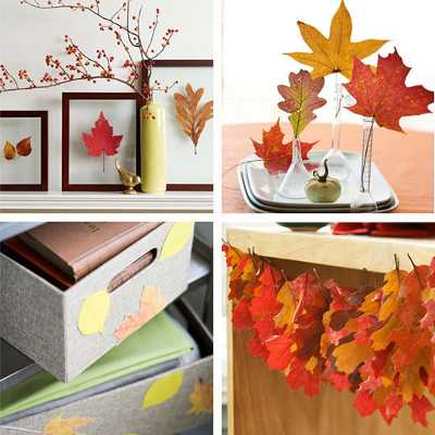 20 fall decor ideas and crafts to enjoy autumn leaves for Autumn leaf decoration