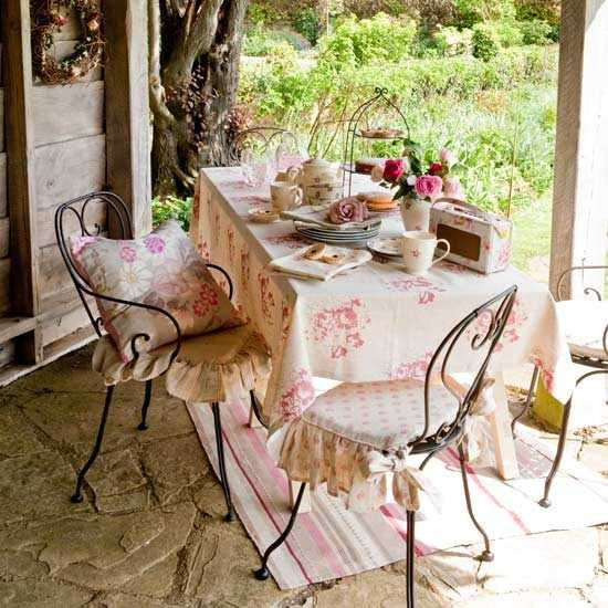 Country Garden Decorating Ideas Lovely Photograph: Home Fabrics For Outdoor Decor, Beautiful Summer