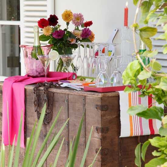 Home fabrics for outdoor decor beautiful summer for Decoration jardin soiree