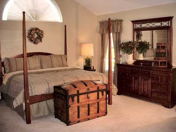 Remarkable colonial style in house interiors with ethnic flare for Colonial bedroom decor