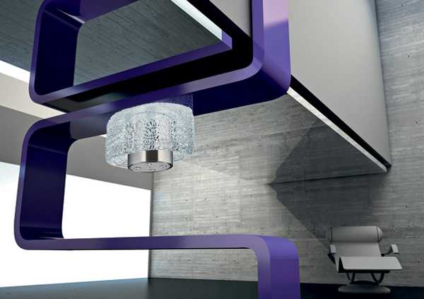contemporary ceiling light with crystals