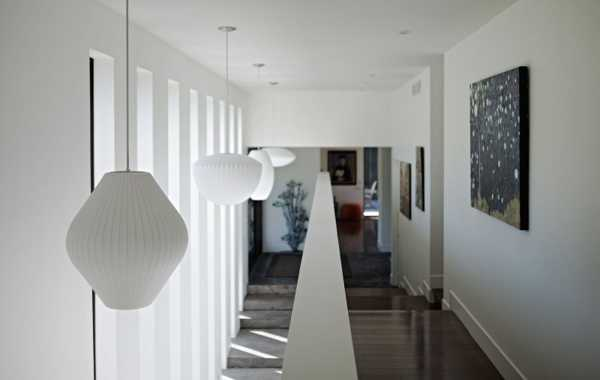 contemporary pendant light in white
