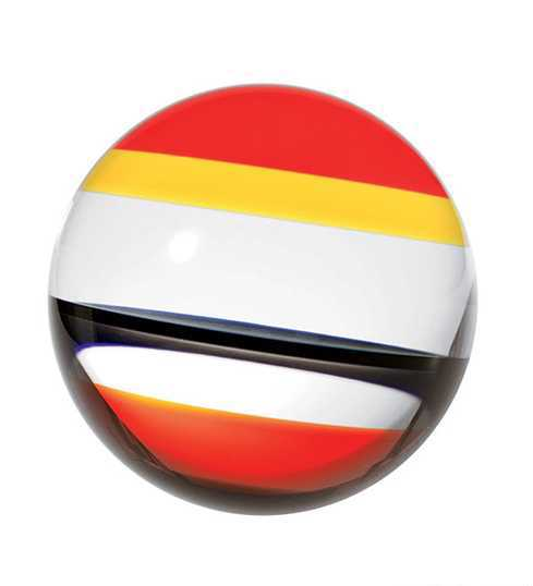 decorative ball for wall in yellow, orange and black colors