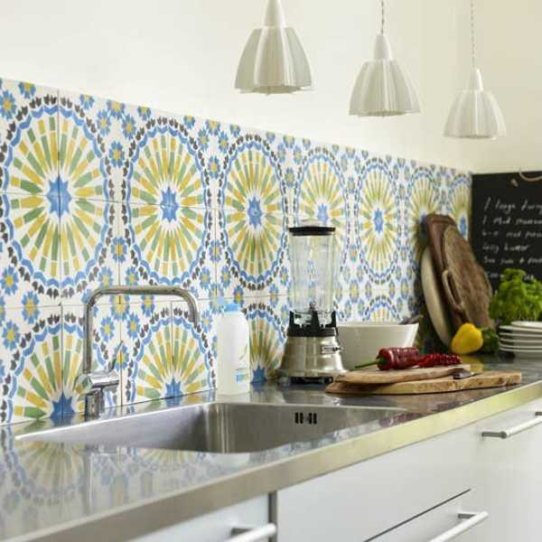 Blue And Yellow Kitchen Tiles Design Ideas