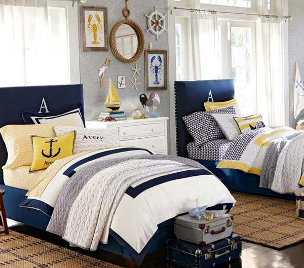 nautical decorating ideas for kids rooms from pottery barn kids. Black Bedroom Furniture Sets. Home Design Ideas