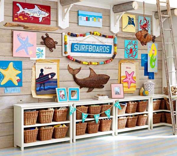 Nautical decorating ideas for kids rooms from pottery barn kids