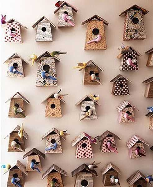 beautiful wallpaper with bird houses