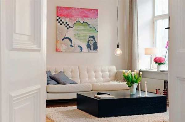 white and black living room furniture