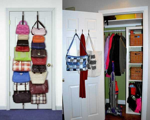 40 handbag storage solutions and home organizers for small spaces - Clothing storage for small spaces image ...
