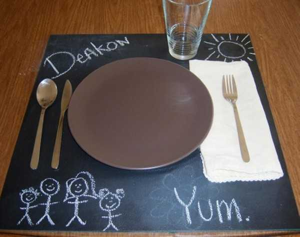 black board type place mats