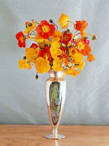 yellow and red flower arrangement for fall decorating