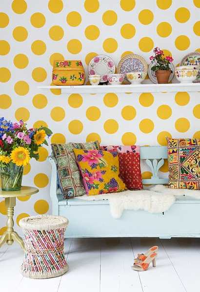 bright room colors for bohemian decor