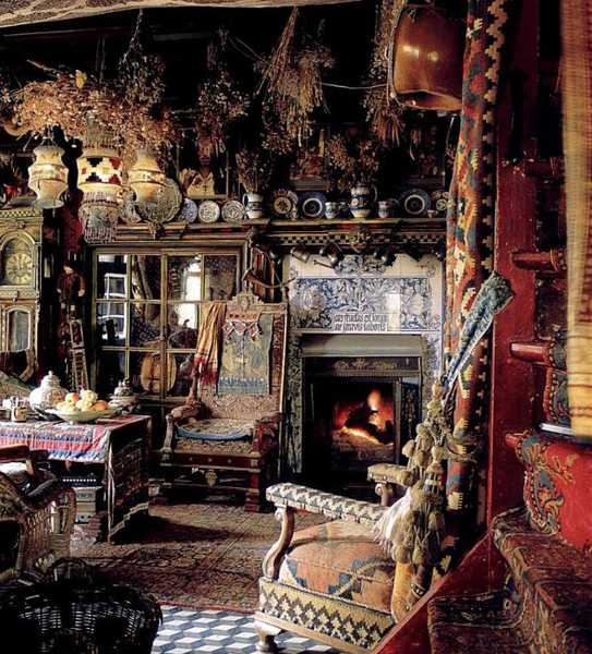 antique furniture and boho chic decor style