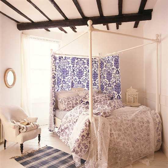 black wood ceiling beams in bedroom