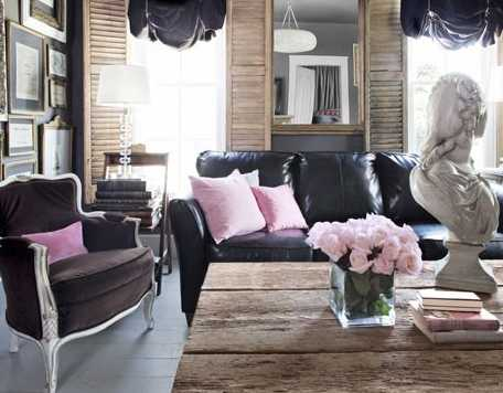 black and pink color combination