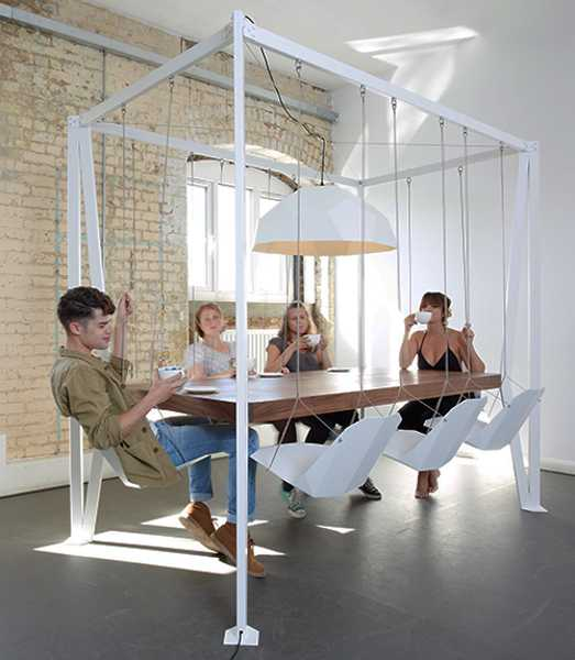 playful swing table design adding fun to dining room