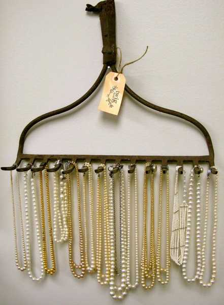 creative storage solution for necklaces