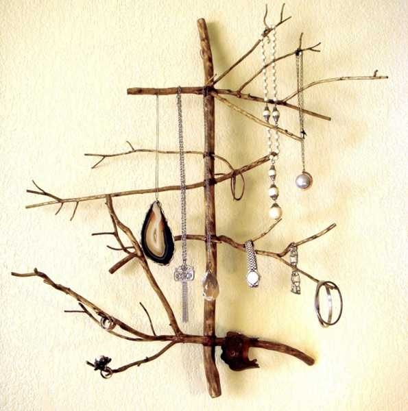 tree branches for hanging jewelry