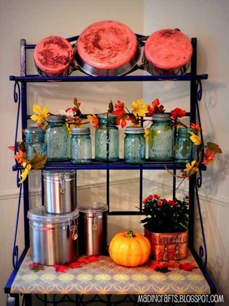 orange colors for fall home decorating