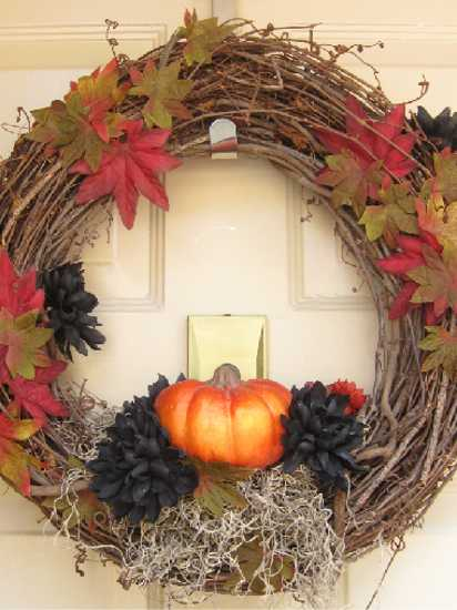 Handmade Door Wreaths Offering Great Craft Ideas And Cheap