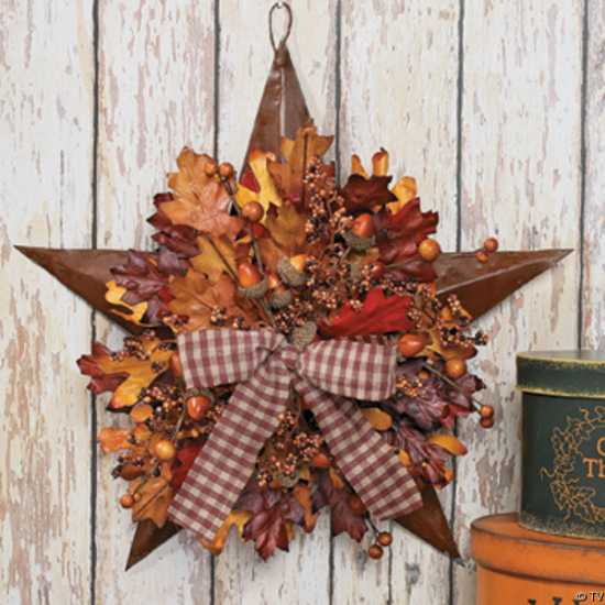 Handmade door wreaths offering great craft ideas and cheap - Fall decorations for home ...