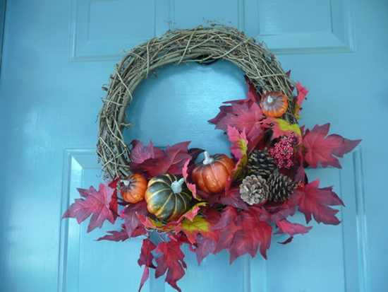 Cheap Home Decorating Crafts: Handmade Door Wreaths Offering Great Craft Ideas And Cheap