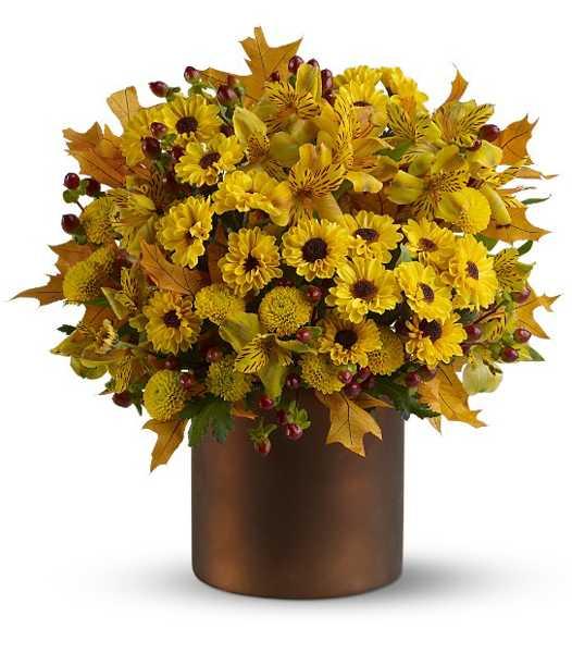 Elegant Fall Table Arrangements: Simple Fall Flower Arrangements Make Gorgeous Party Table