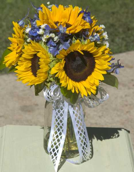 sunflower centerpiece idea