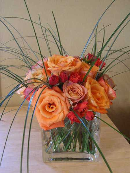 rose centerpiece idea