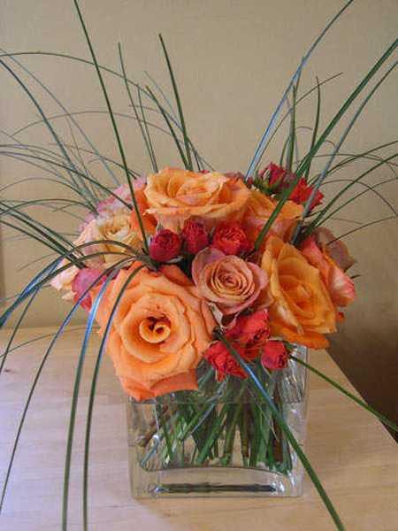 rose centerpiece idea
