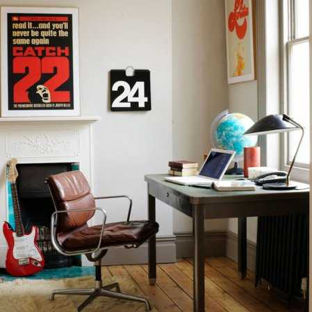 home office decor and wall decoration in vintage style - Home Office Decor