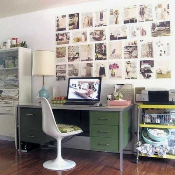 30 modern home office decor ideas in vintage style How to decorate a home office