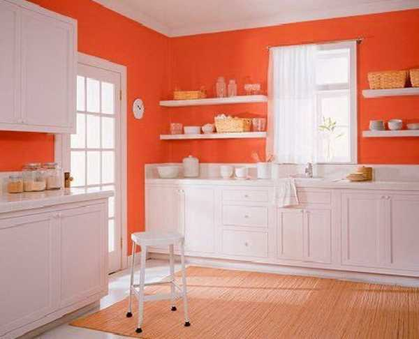 Orange Color Shades and Modern Interior Decorating Color Combinations