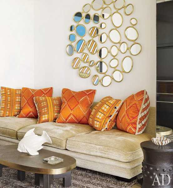 orange sofa pillows