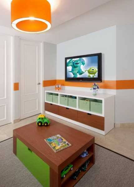 orange accents with green brown and white decorating ideas