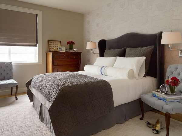 bedroom decorating with jute and neutral colors
