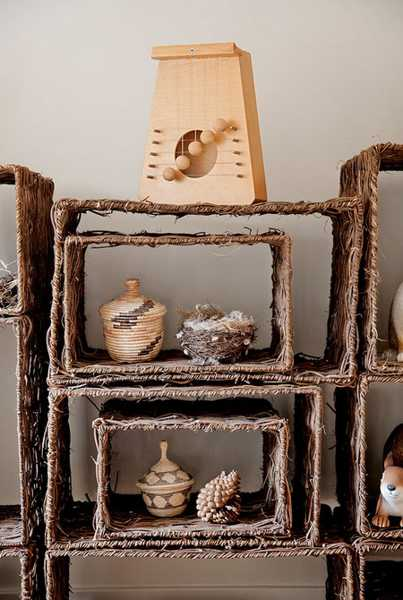 jute shelves home accessories