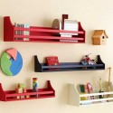 colorful wall shelves for children bedroom