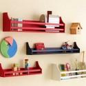 colorful wall shelves for children bedroom