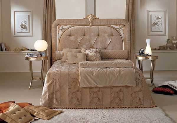 bedroom furniture and bedding fabrics in brown colors