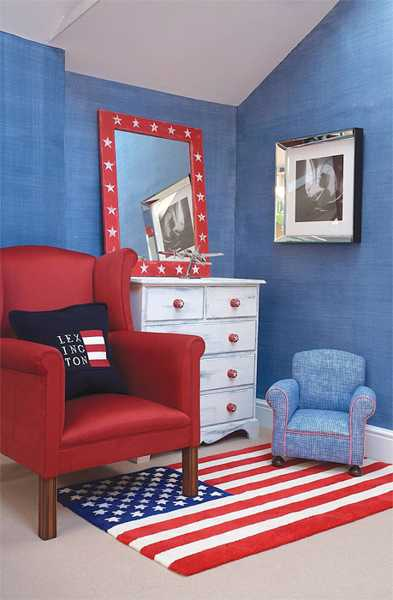 Nautical decor ideas for young lovers of the sea dreams in boys bedrooms - Interesting images of red and blue bedroom decorating design ideas ...