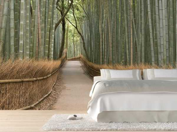 bedroom decorating with modern wall mural