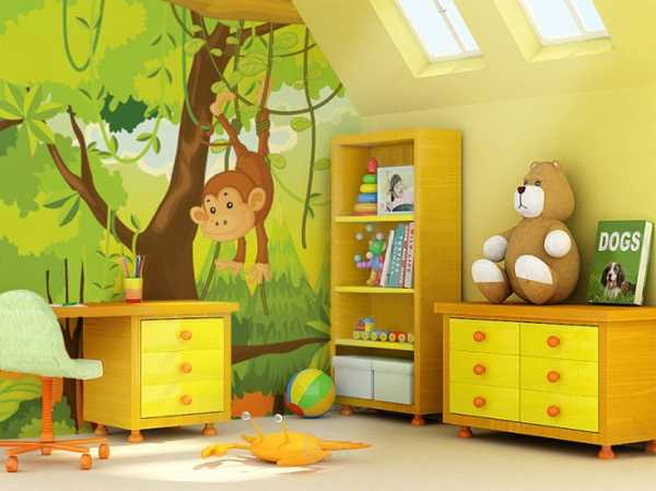 kids room decorating with photo wallpaper