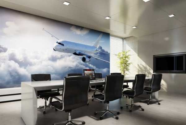 office wall decorating with photo mural