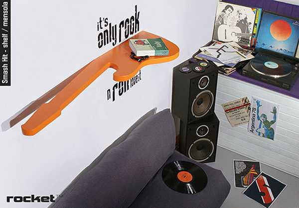 Rock n roll room decorating ideas from italian designers for Music room decor diy