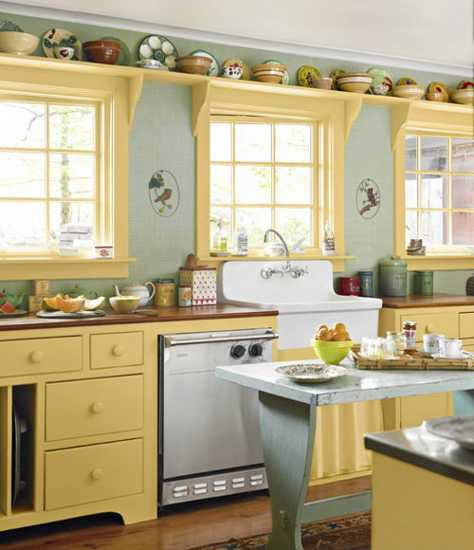 kitchen decor in vintage style