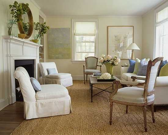 living room furnishings in vintage style