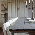 wood furniture and candle holder for dining room decorating