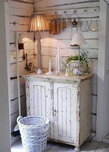 vintage furniture, storage cabinet and table lamps