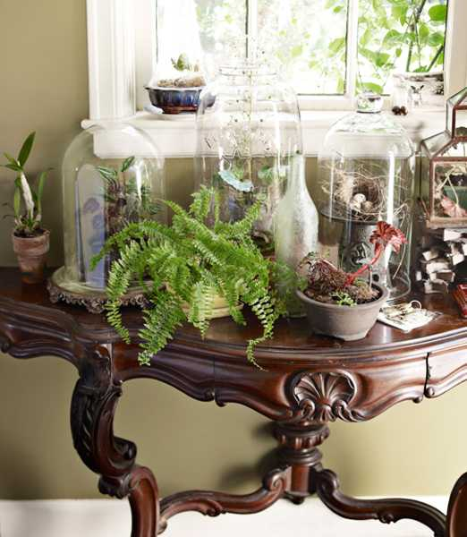 antique furniture and glass